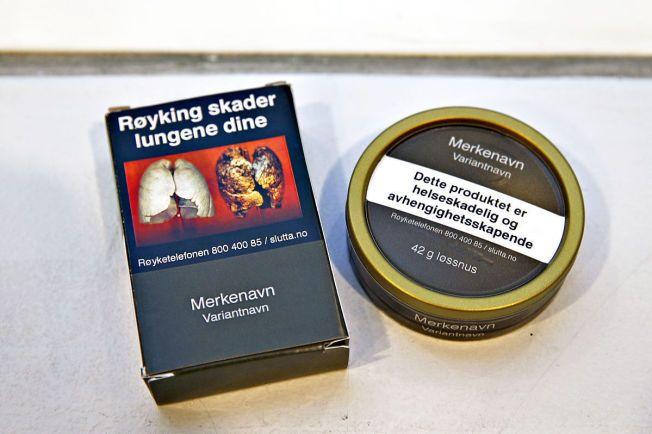Helseminister Bent Høie ønsker nøytrale pakninger på snus og røyk. Boksene skal ha en mørkegrønn farge og pakningens utforming skal være lik.