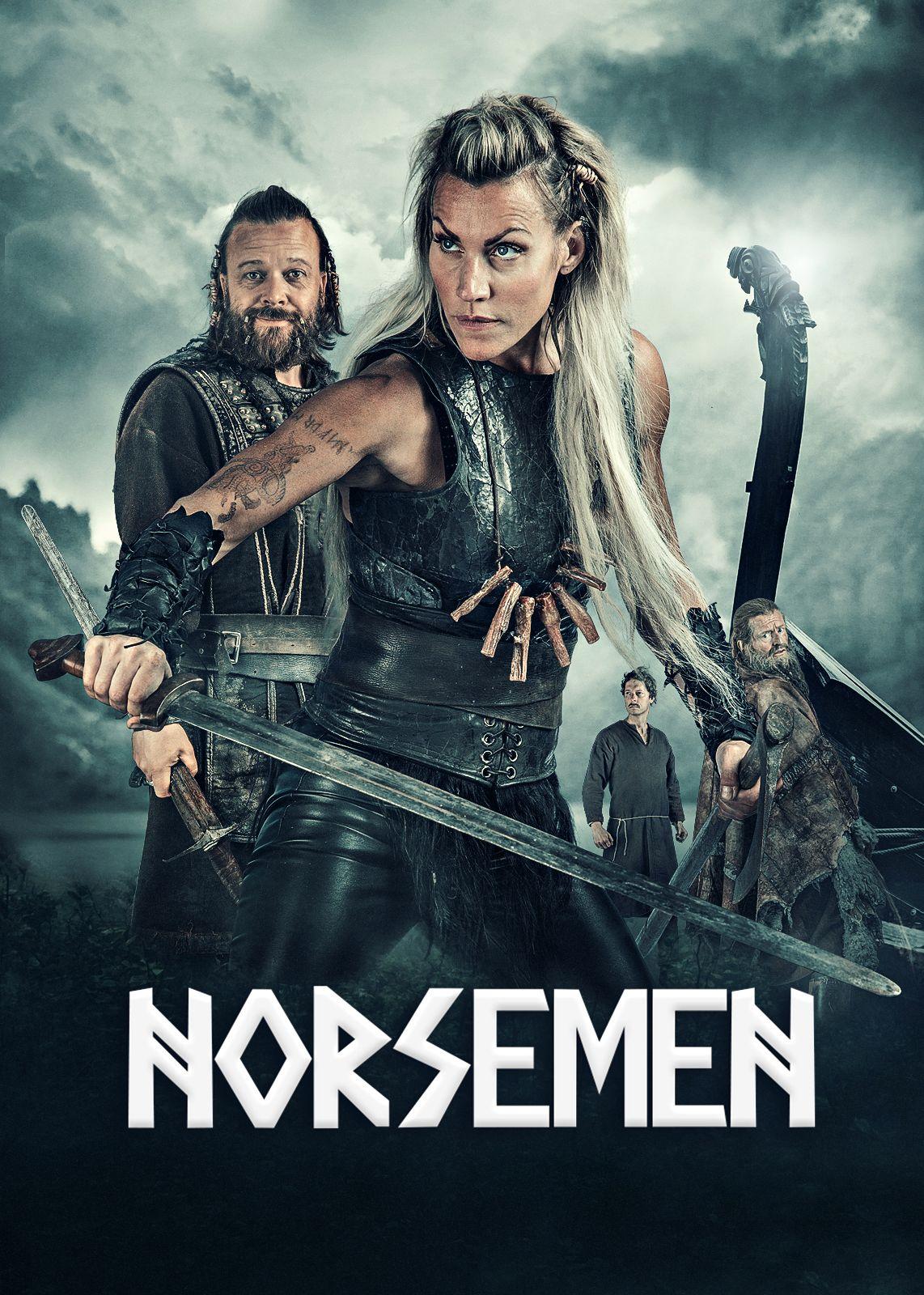 PÅ ENGELSK: Kåre Conradi og Silje Torp i humordramaet «Vikingane» som nå blir «Norsemen».