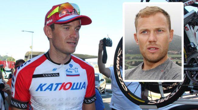 IMPONERT: Thor Hushovd (innfelt) er imponert over Alexander Kristoffs første etappeseier i Tour de France.