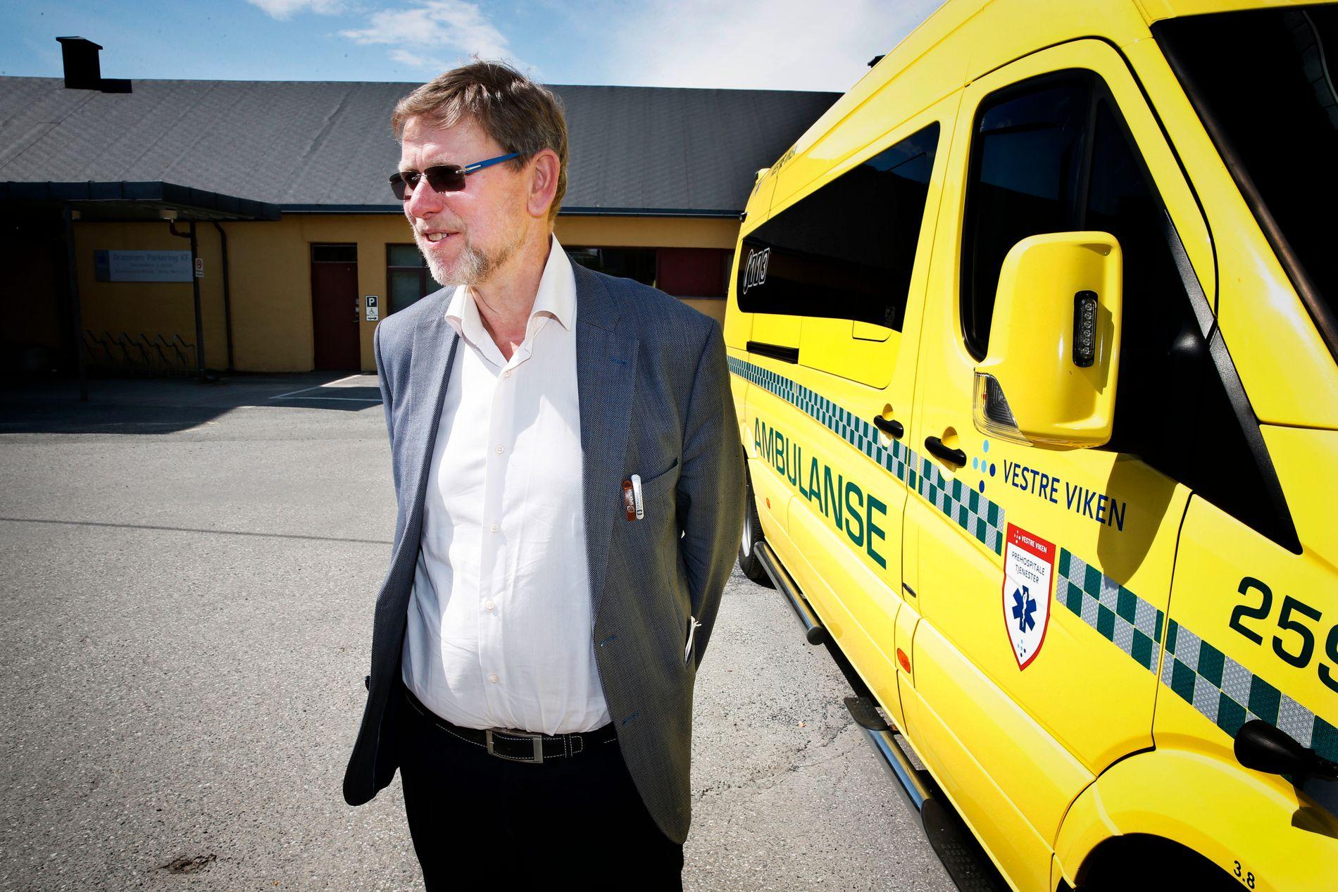 KRITISK: Administrerende direktør i helseforetaket Vestre Viken, Nils Fredrik Wisløff (64).