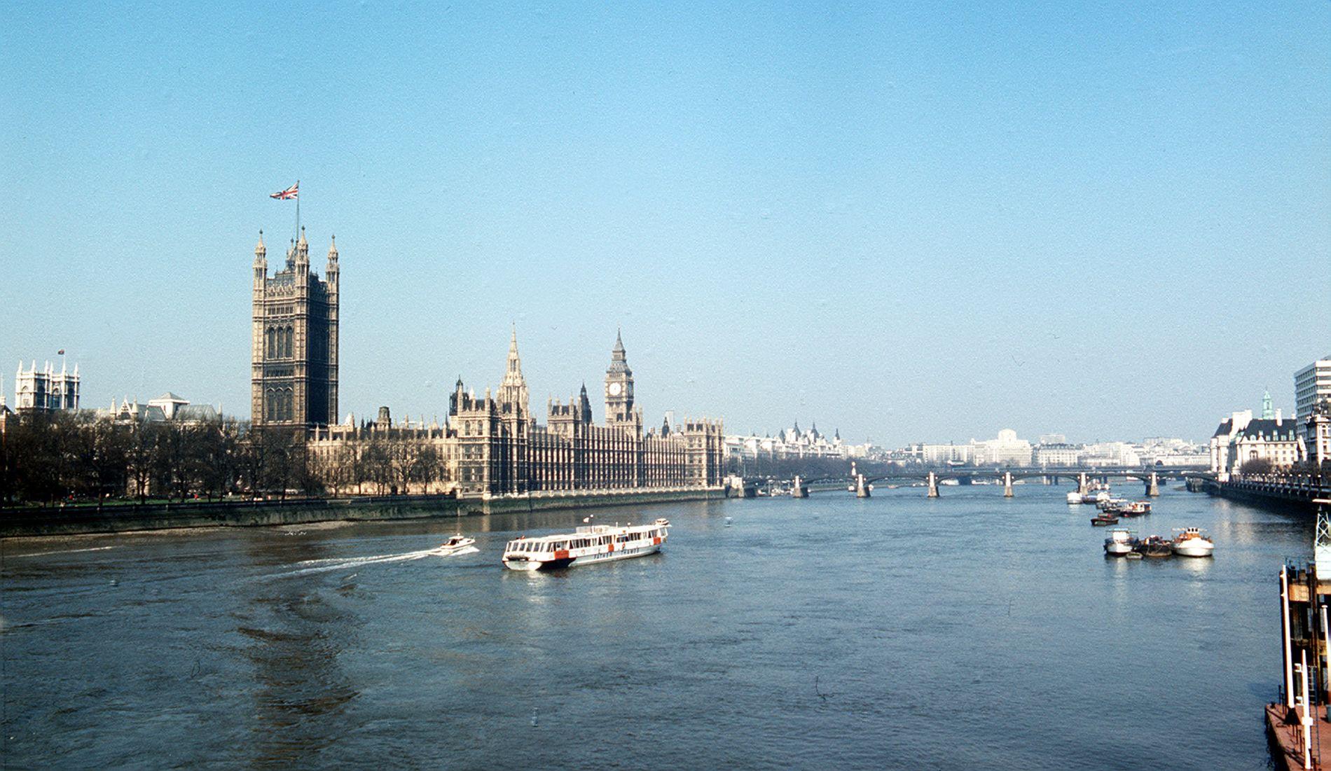MÅL: Mannen ble pågrepet utenfor parlamentet i London i fjor.