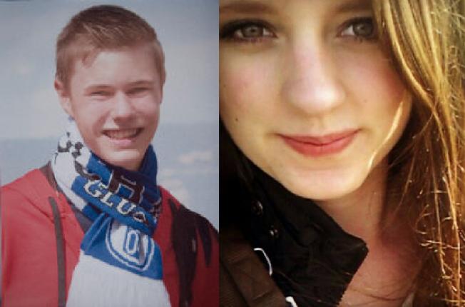 PÅ KLASSETUR: Steffen og Lea var to av 16 skoleelver som var på utveksling i Spania med Germanwings-flyet.