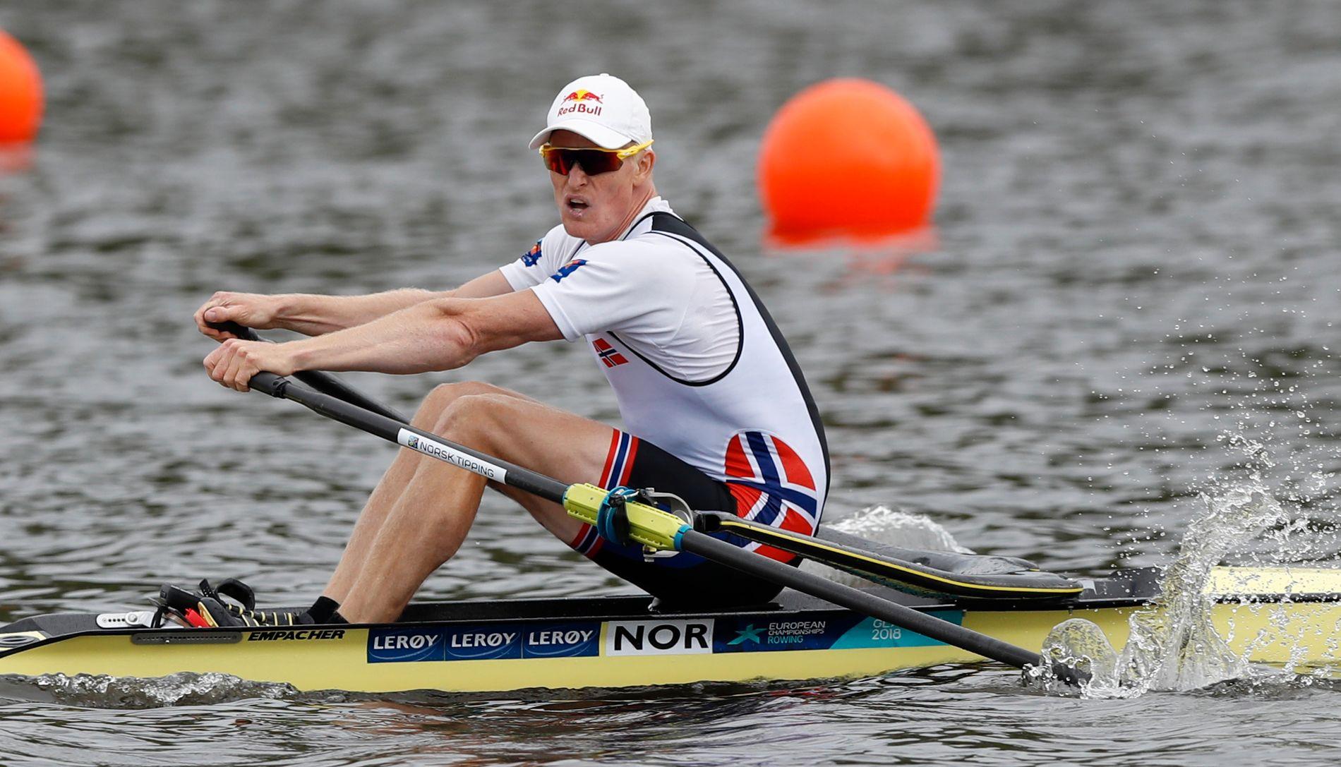 TIL KVARTFINALEN: Kjetil Borch hadde ingen problemer med å kvalifisere seg kvartfinalen i VM.