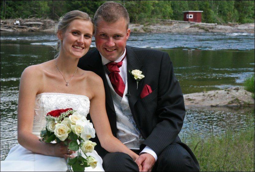 TV-lykke: Tore Jardar Johannessen Wirgenes møtte Michelle Skjønsholt under «Jakten på kjærligheten». Nå er de gift og har fått sin første datter. Foto: Privat