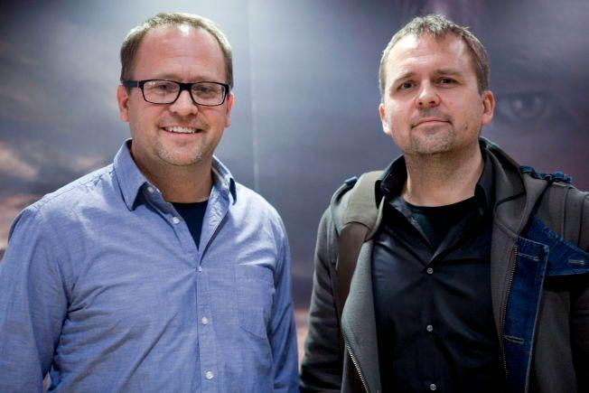 MAMMON-BRØDRE: Vegard Stenberg Eriksen (til venstre) og broren Gjermund Eriksen er henholdsvis manusforfatter og produsent for serien. FOTO: JAVAD PARSA/VG