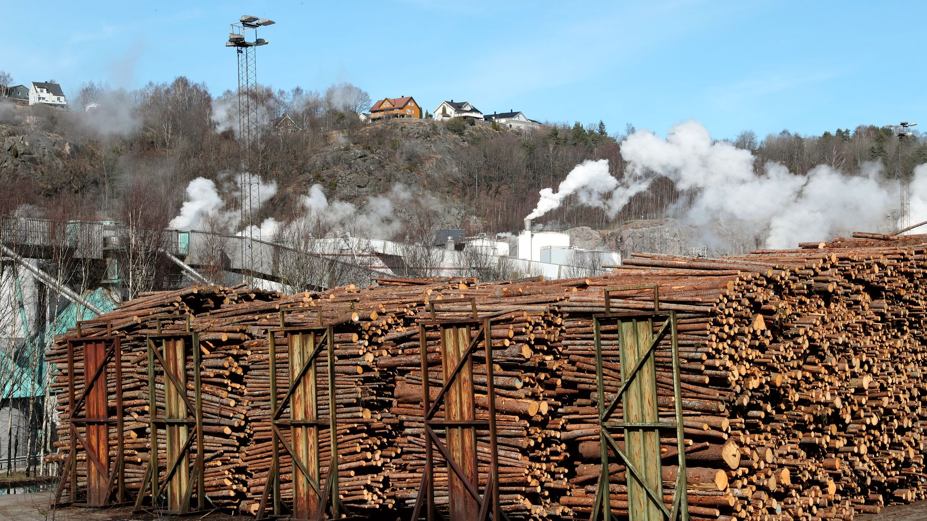 SLITER KRAFTIG: Norske Skog har lenge slitt i et fallende avispapirmarked og har stor gjeld etter mange oppkjøp.