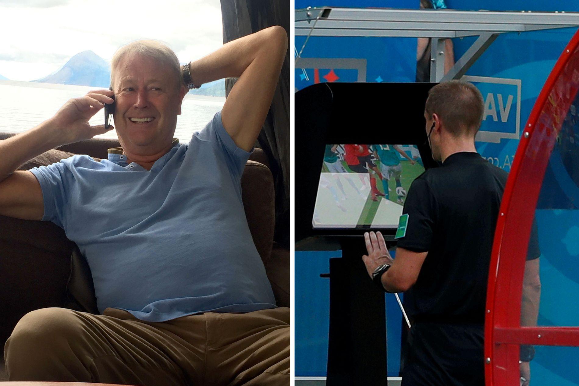 OPPTATT MANN: Åge Hareide er for lengst igang med forberedelsene til EM-kvalifiseringen, Nations League, som starter om to uker. Her er dommer Mark Geiger under kampen mellom Sør-Korea og Tyskland i VM.