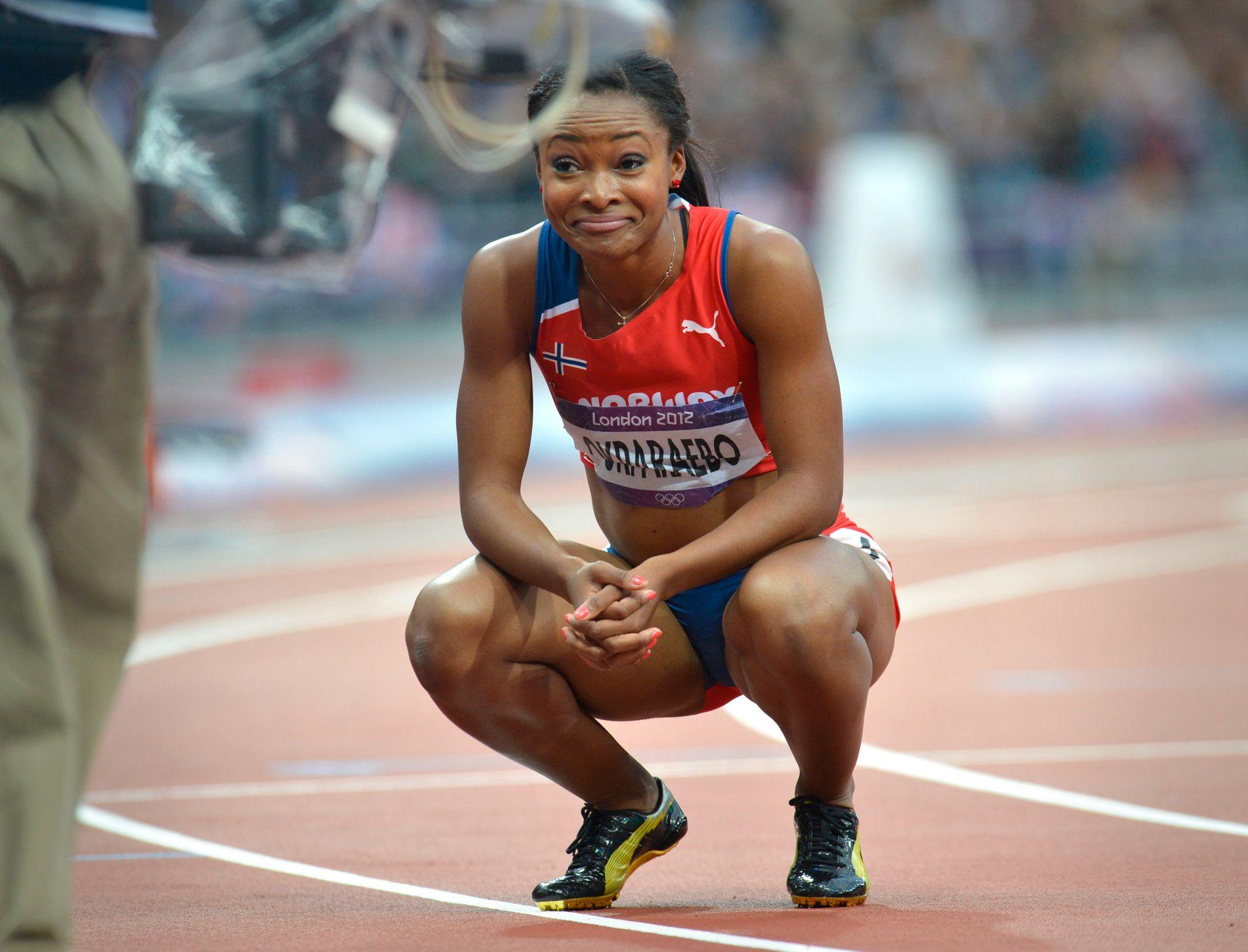 IKKE HELT KLAR: Ezinne Okparaebo (28) satte personlig rekord på 100 meter med 11,10 i semifinalen London-OL. For å bli klar til Rio-OL må hun løpe på 11,20 senest i friidretts-EM i Amsterdam 6. til 10. juli.
