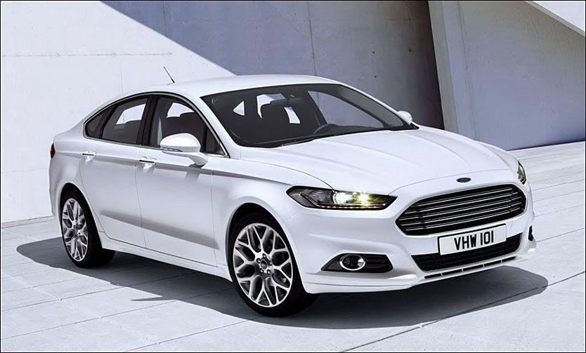 STOR OVER, LITEN UNDER: Nye Ford Mondeo kommer med en svært liten bensinmotor under panseret. I dag vises bilen. Foto: Produsent