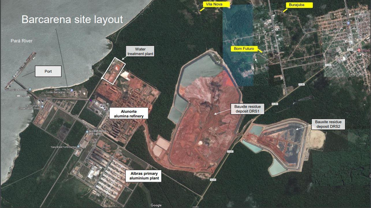 KONTROVERSIELT DEPONI: Hydros nye avfallsdeponi DRS2 ved Alunorte-anlegget i Brasil er nå stengt på grunn av manglende lisenser. Organisasjonen Cainquiama har saksøkt Hydro fordi de mener at det samme deponiet ligger på et økologisk reservat.