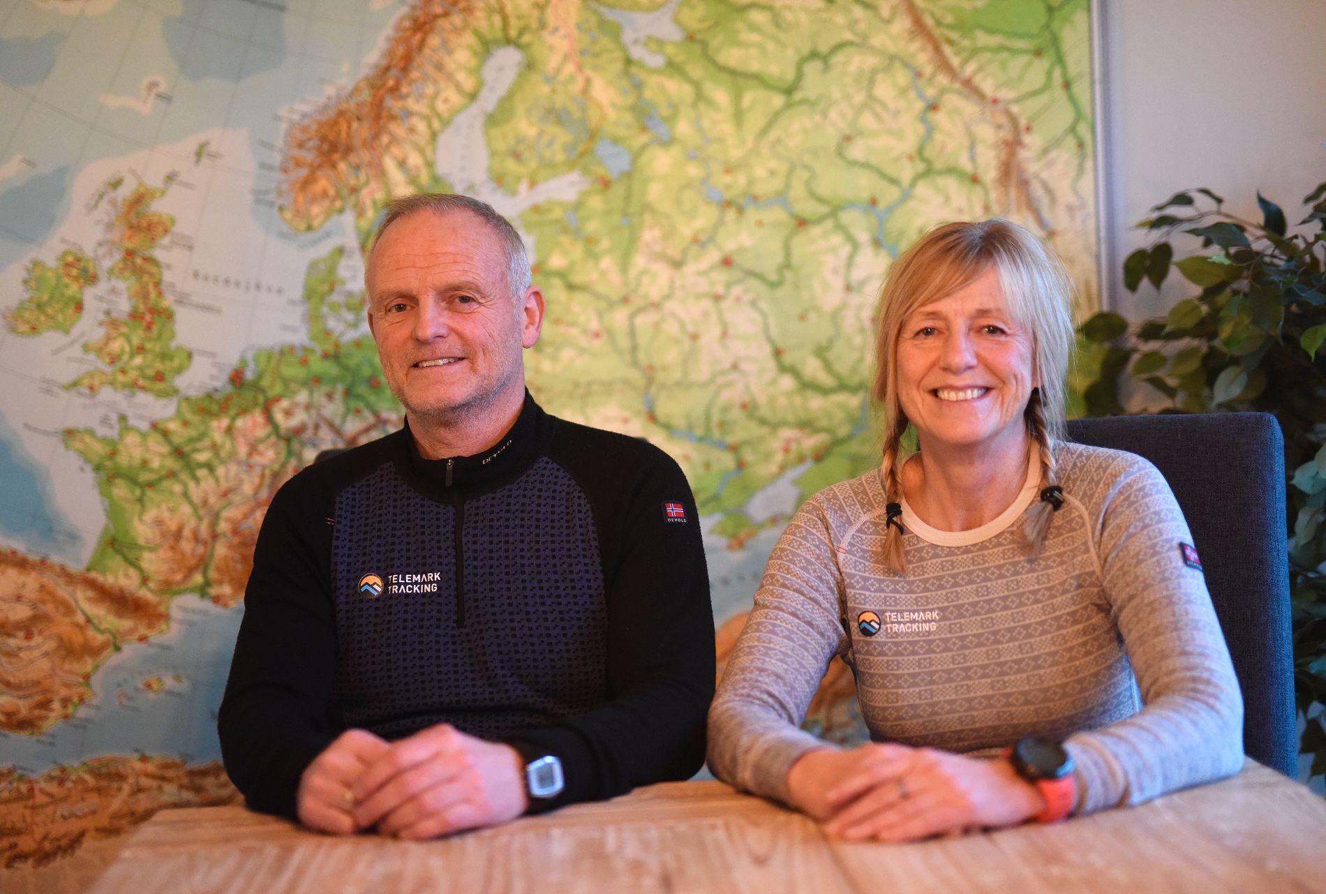 PAR PÅ TOPPEN: Tone Gravir og Leif Harald Bergseth er det eldste ekteparet som har besteget Mount Everest.