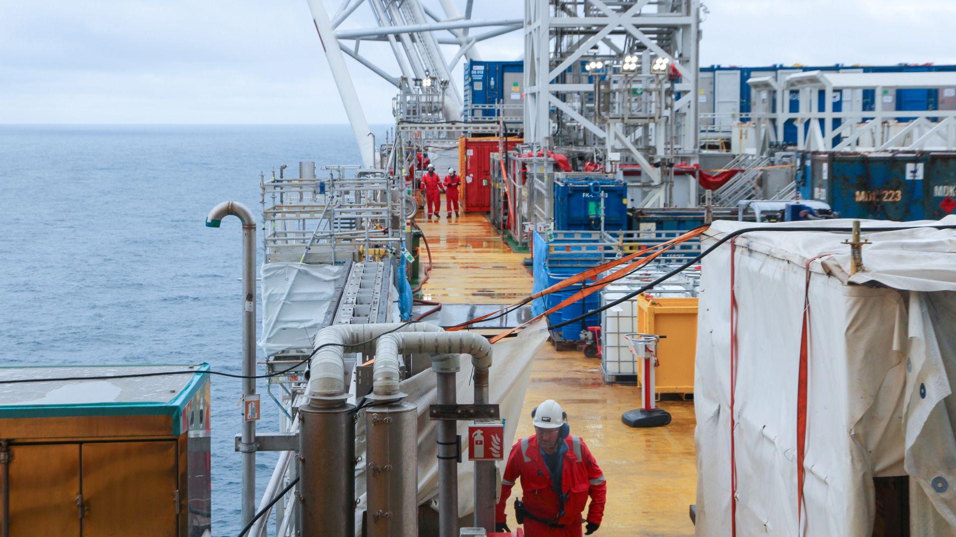 TRENGER ARBEIDERE: Oljebransjen klarer ikke fylle oljejobbene som er tilgjengelige. Bildet viser Johan Sverdrup-feltet i Nordsjøen.