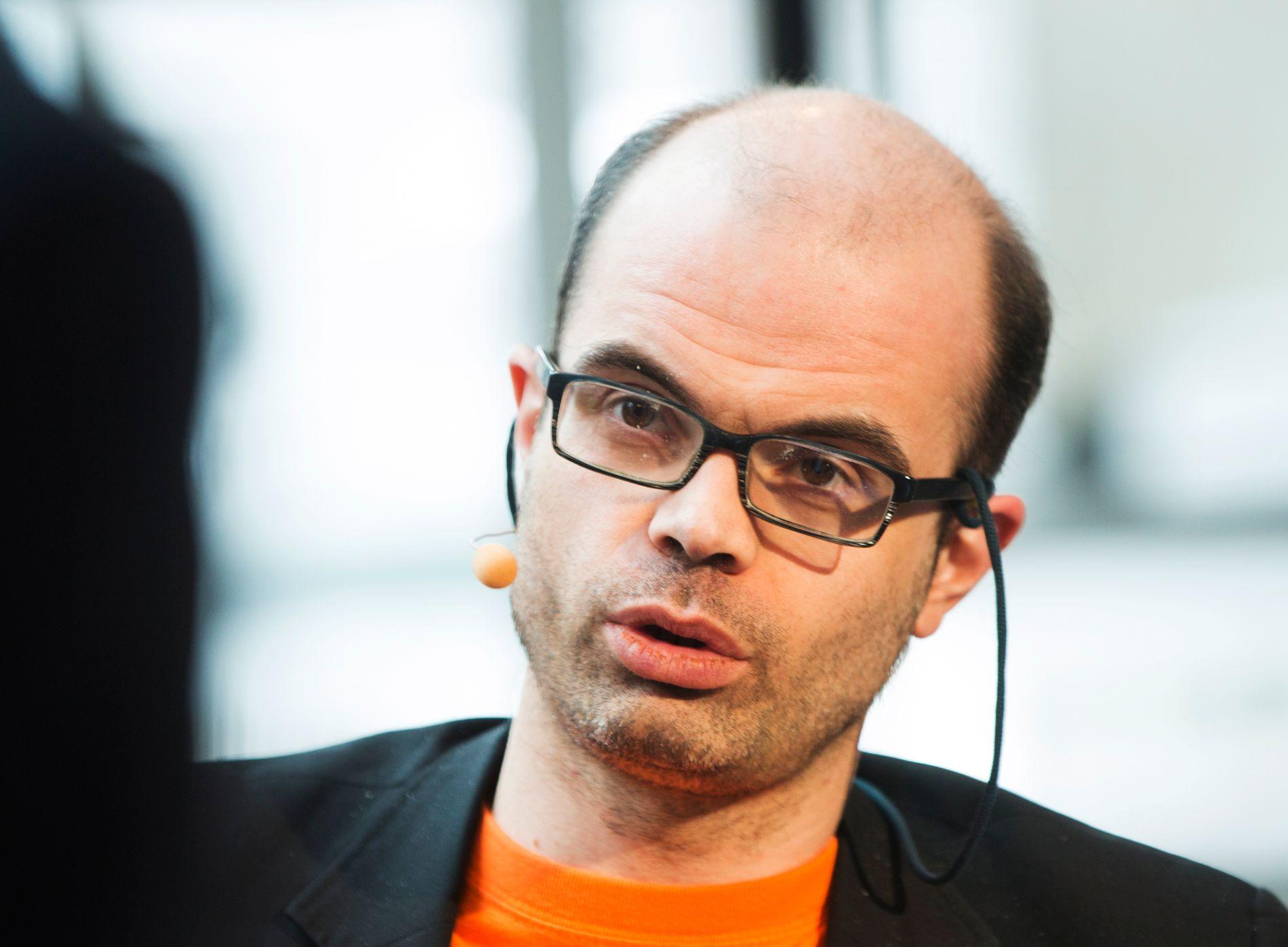 Dette bildet av Hans Olav Lahlum, forfatter, historiker, sjakkspiller og SV-politiker ble tatt i 2013.