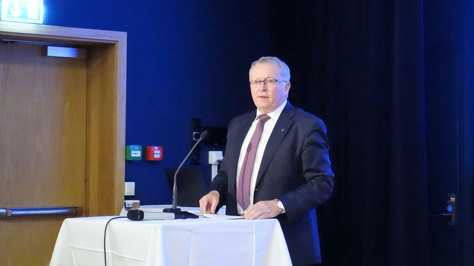 FERSK AVTALE: Equinor-sjef Eldar Sætre skriver torsdag under intensjonsavtaler med flere europeiske selskaper om CO2-lagring.