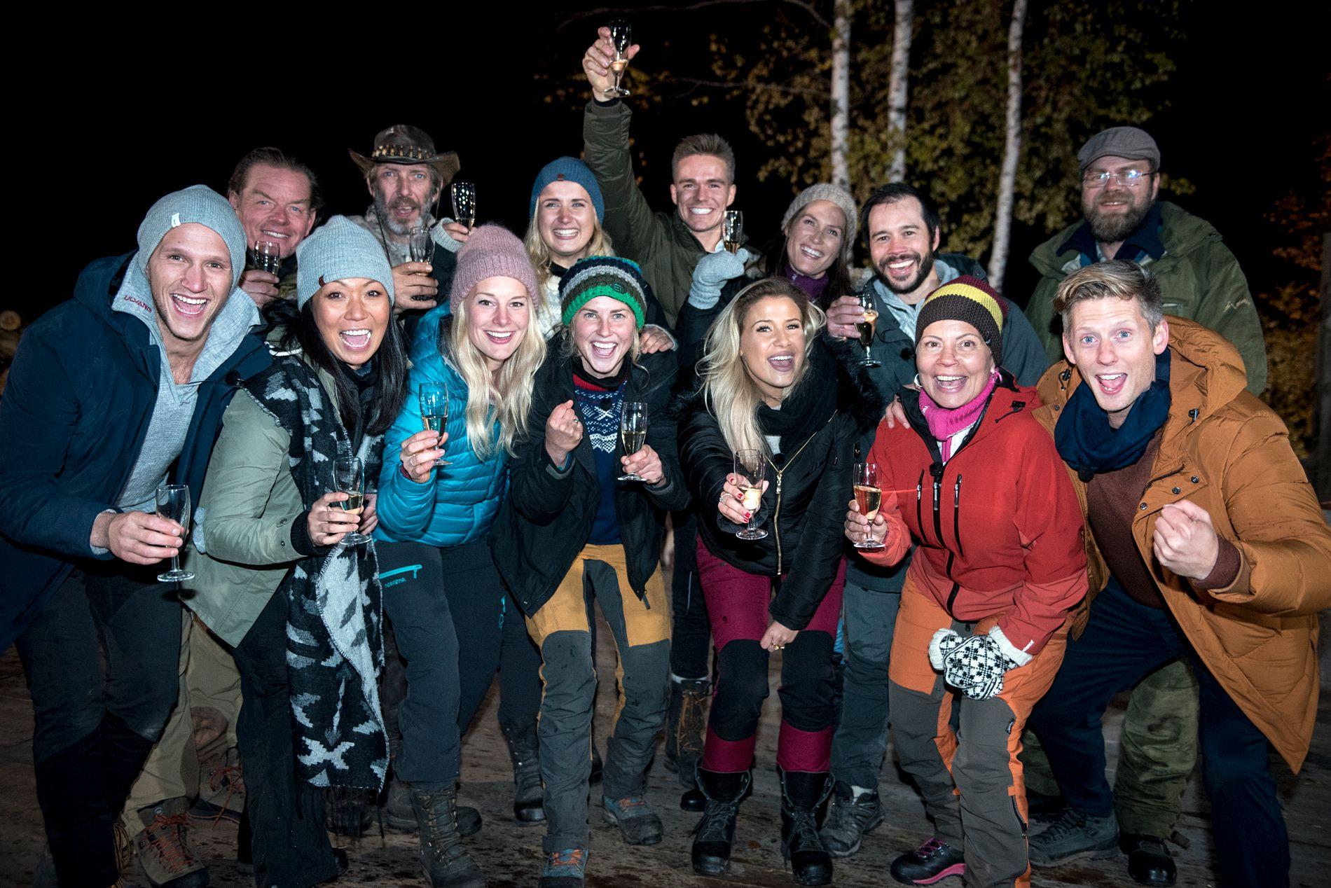 UTEBLE: Kjetil Nørstebø nektet å delta i scenene der deltagerne feirer «Farmen»-vinneren. Dette fordi han mener Tone jukset seg til seier.