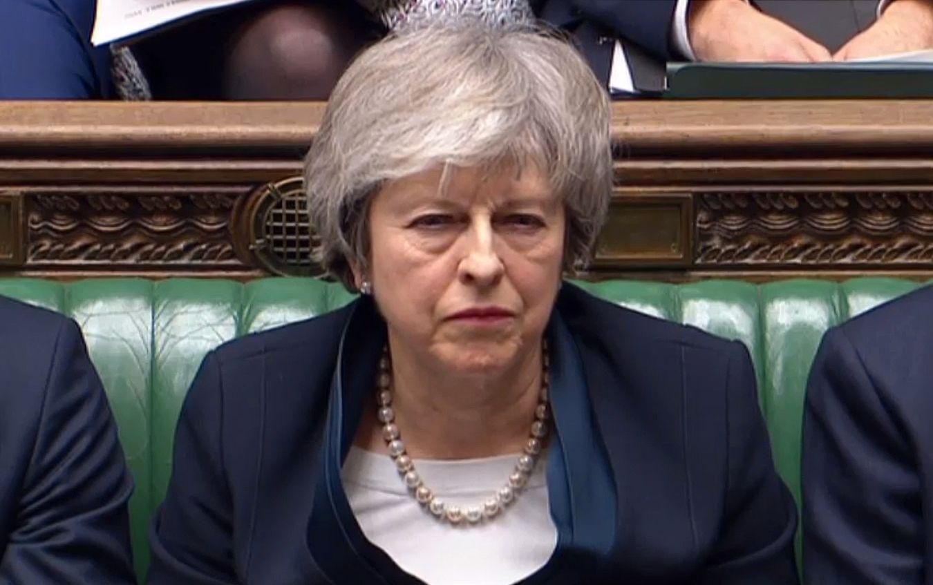 TAPTE: Statsminister Theresa May gikk torsdag kveld på et større nederlag i det britiske underhuset enn noen tidligere regjeringssjef.