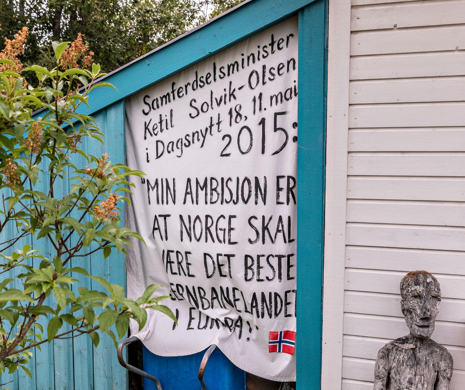 PÅMINNELSEN: I 2015 sa daværende samferdselsminister Ketil Solvik Olsen at Norge skulle være det beste jernbanelandet i Europa. Glemte han Nord-Norge? undrer Hilde Sagland.