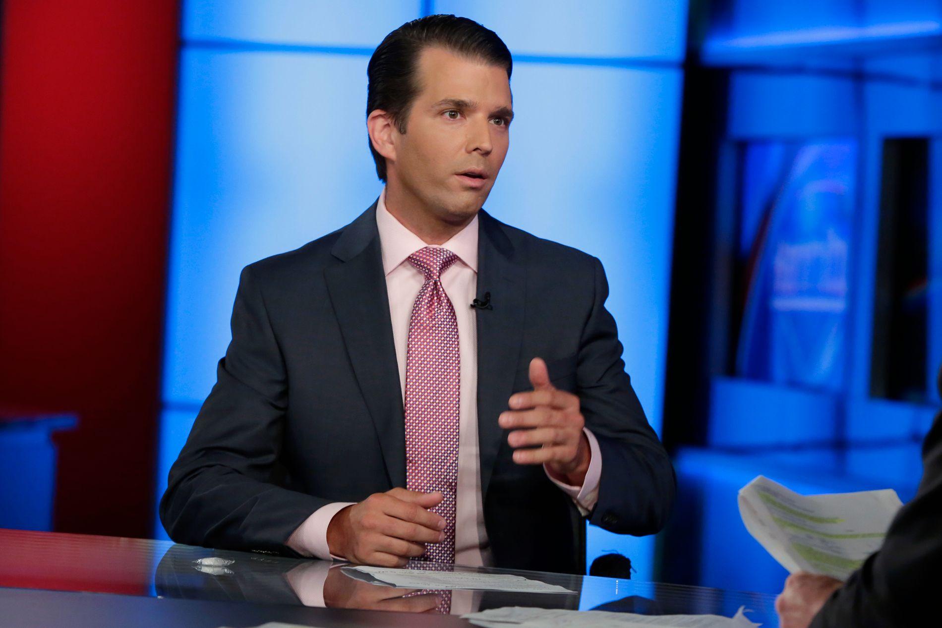 MÅ FORHANDLE: Donald Trump Jr. har innrømmet at møtet med Veselnitskaja fant sted fordi advokaten hevdet å ha opplysninger som kunne være skadelig for hans fars motkandidat Hillary Clinton under valgkampen.