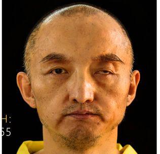 GISSEL: Faksimile av bildet som IS-magasinet publiserte i september av det kinesiske gisselet Fan Jinghui, som ble holdt i fangenskap sammen med nordmannen.