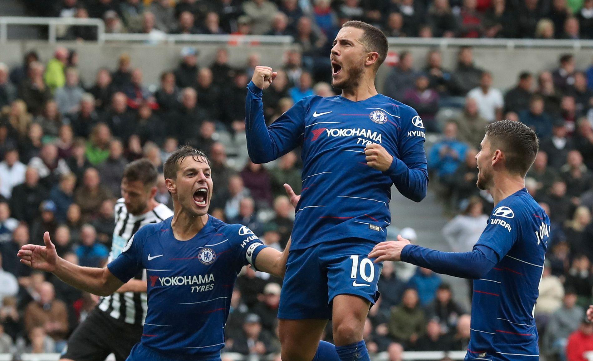 SCORET: Eden Hazard sendte Chelsea i ledelsen mot Newcastle.