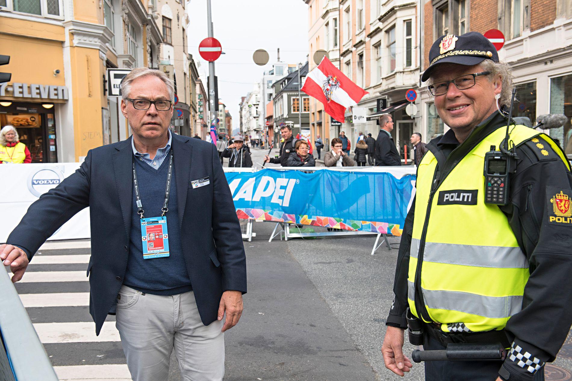 SNART I MÅL: Sykkelpresident Harald Tiedemann Hansen kan være avsatt om halvannen uke. Alternativt går han av på det ordinære forbundstinget i mars. Her er han under VM i Bergen i høst.