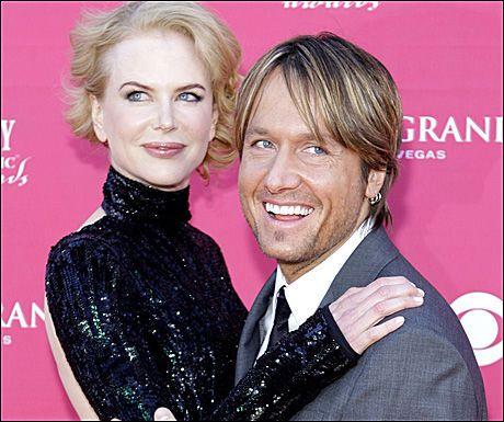 STJERNEPAR: Nicole Kidman og Keith Urban lever et tilbaketrukket liv i Tennesse. Paret viste seg imidletid på Country Music Awards i Nashville tidligere denne måneden. Foto: AP