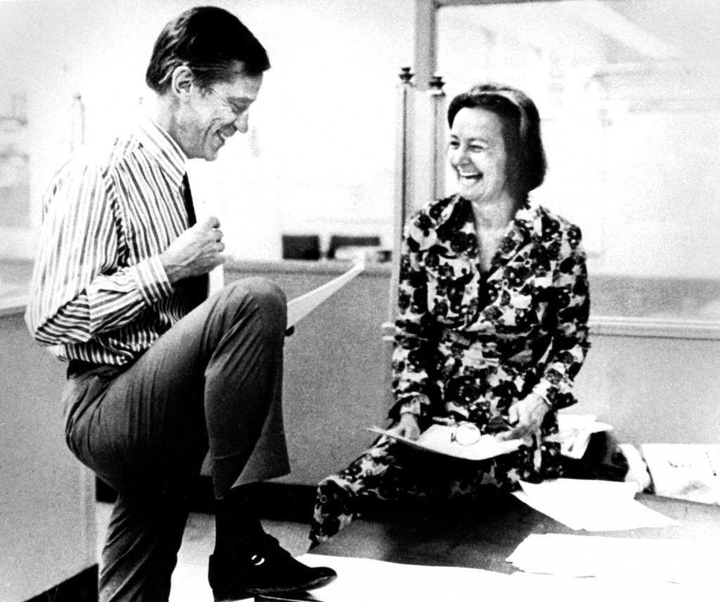 MEDIEHISTORIE: Ben Bradlee i The Washington Post med utgiver Katharine Graham.