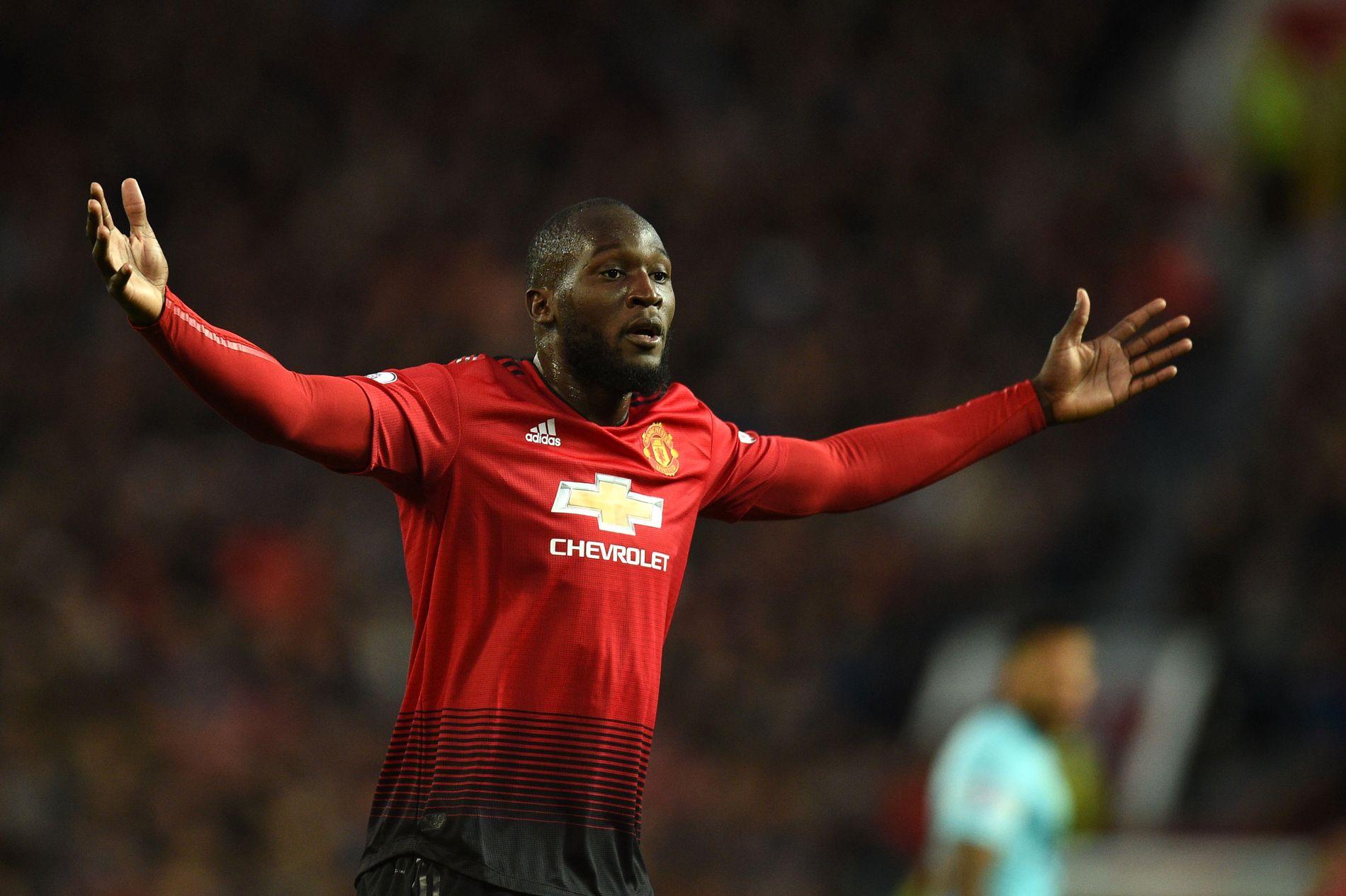 FÅR KRITIKK: Manchester United-spiss Romelu Lukaku, her under Premire League-kamp mot Newcastle.