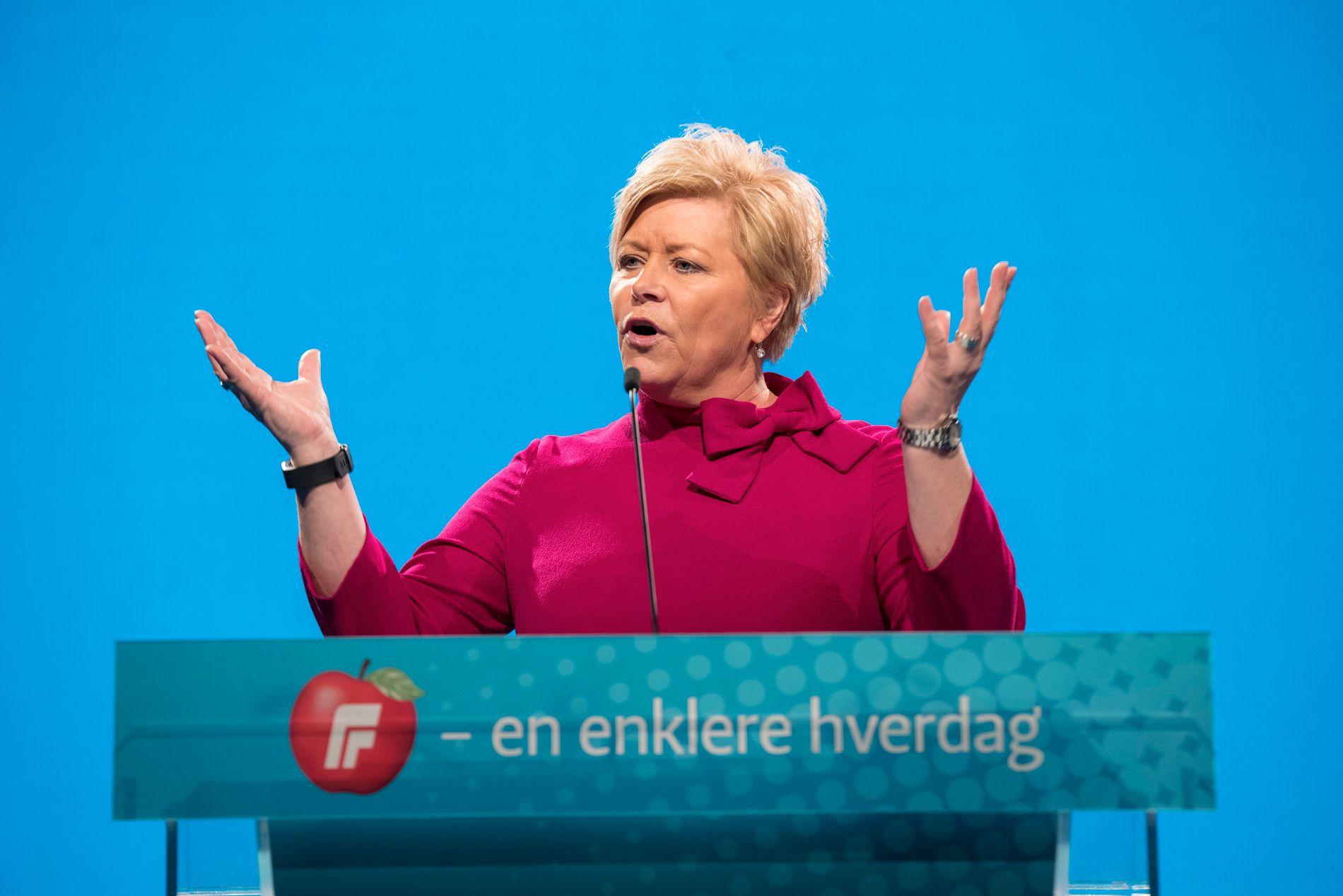 GJENVALGT: Frp-leder Siv Jensen.