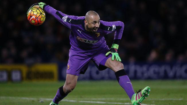 VIKTIG VETERAN: Watford-keeper Heurelho Gomes holdt nullen da Chelsea kom på besøk til Vicarage Road i kveld.