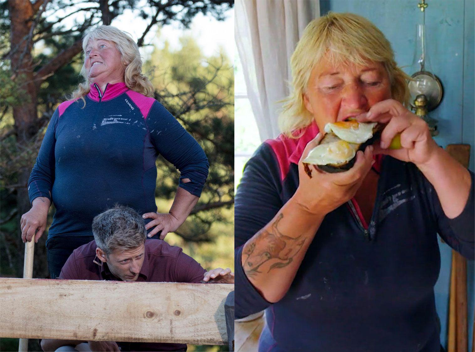OMSTRIDT: Line Suomalainen har stjålet mat i smug, men søndag var det over og ut med en hårsbredd.
