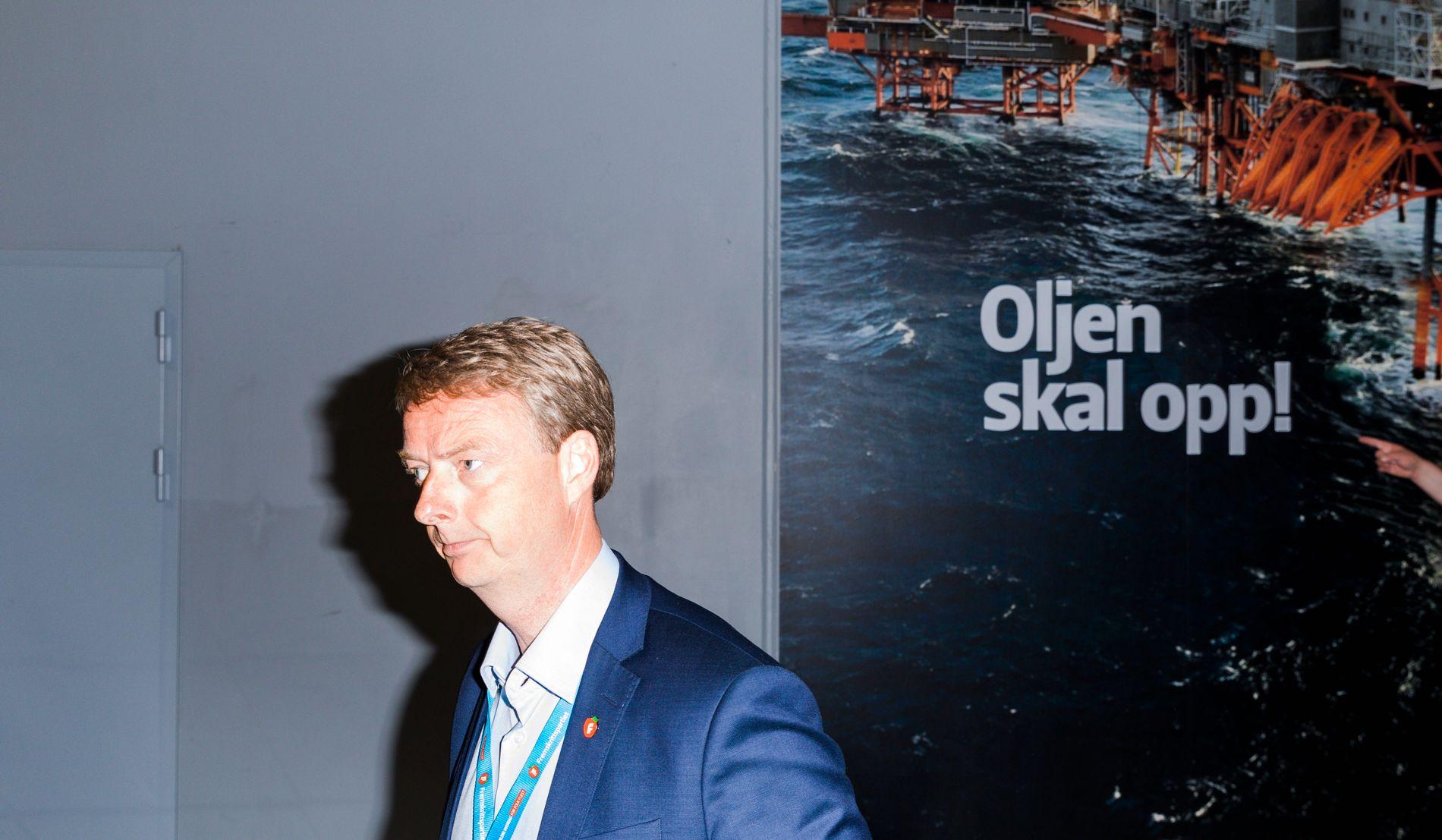 KUTT: Olje- og energiminister Terje Søviknes kutter kraftig i satsningen på CO2-fangst og lagring.
