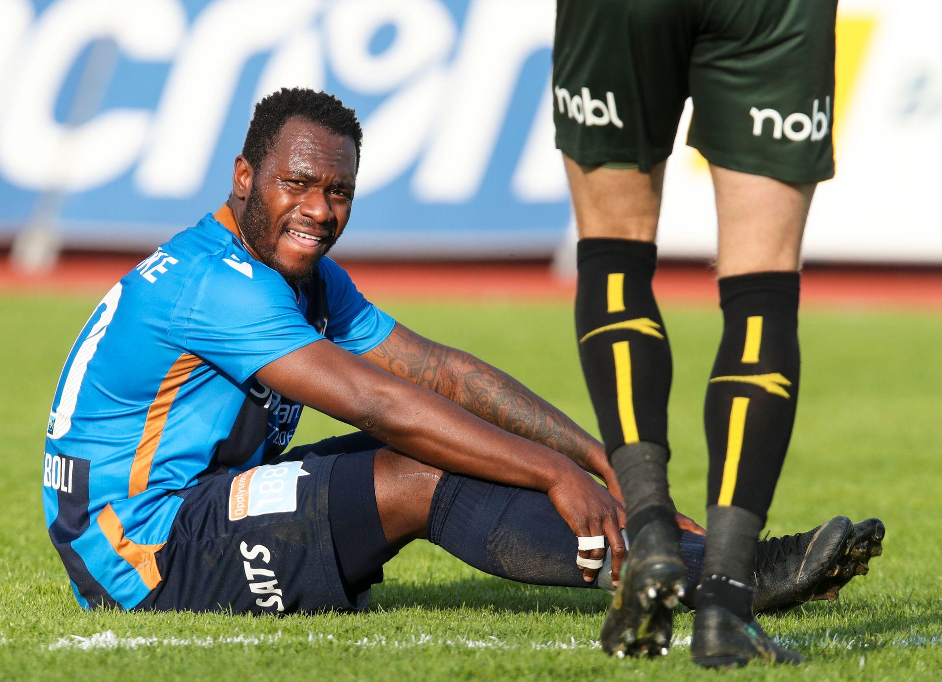 TOPPSCORER: Franck Boli. Her fra eliteseriekampen mot Bodø/Glimt i