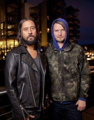 RÖYKSOPP: Svein Berge (til venstre) og Torbjørn Brundtland. Foto: Mattis Sandblad, VG