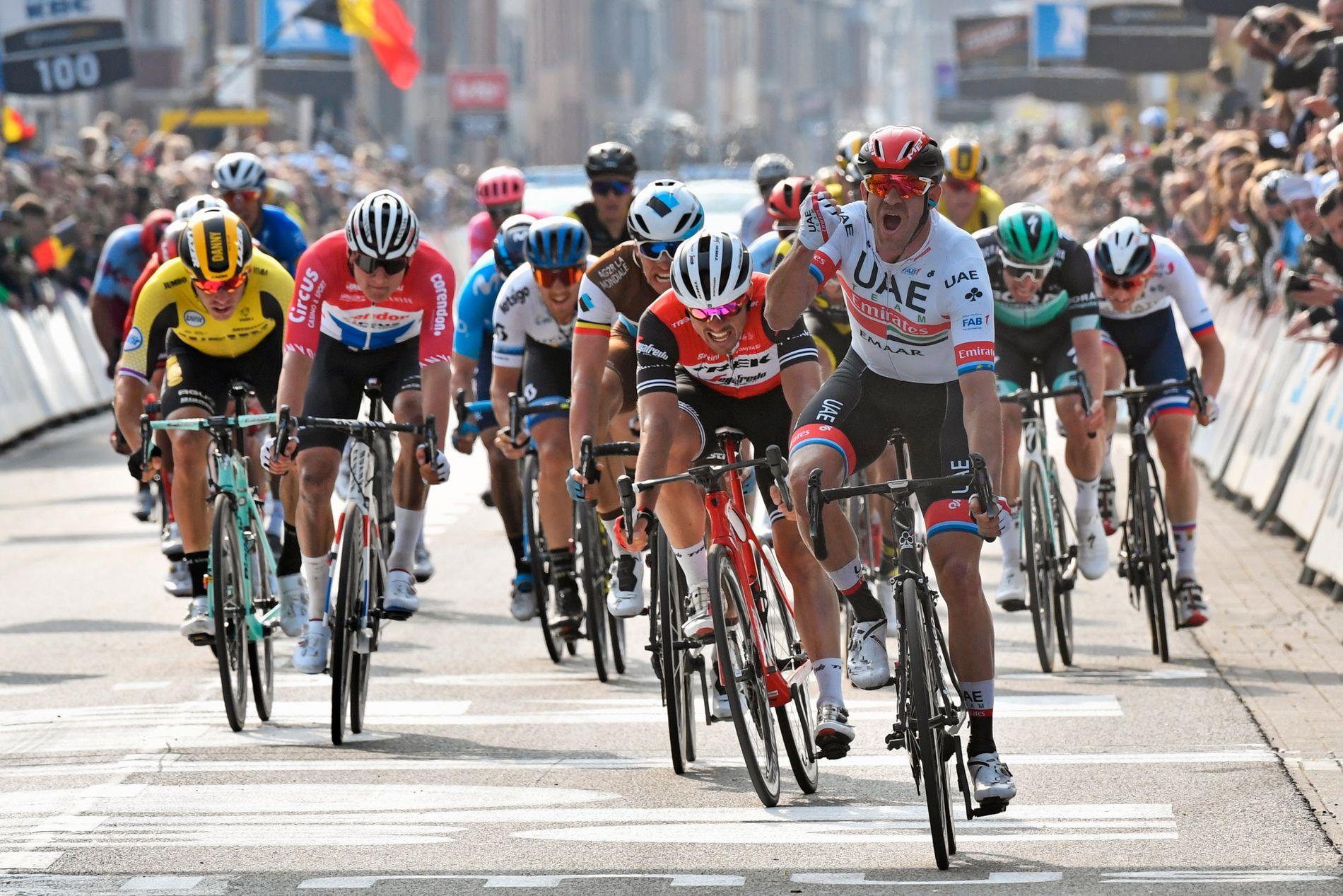 KLASSIKER: Kristoff har vist klassikerform i år, og spesielt seieren i Gent-Wevelgem var imponerende.
