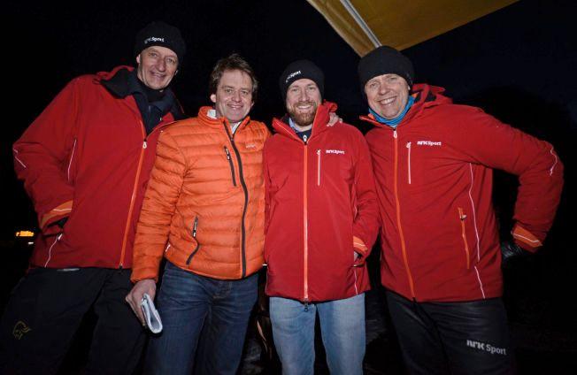 NY MANN I VM-TROPPEN: NRK topper laget foran skiskytter-VM i Holmenkollen og henter inn Torgeir Bjørn som ekspert. Her er han sammen med Ola Lunde (t.v.), Andreas Stabrun Smith og Halvard Hanevold (t.h.).