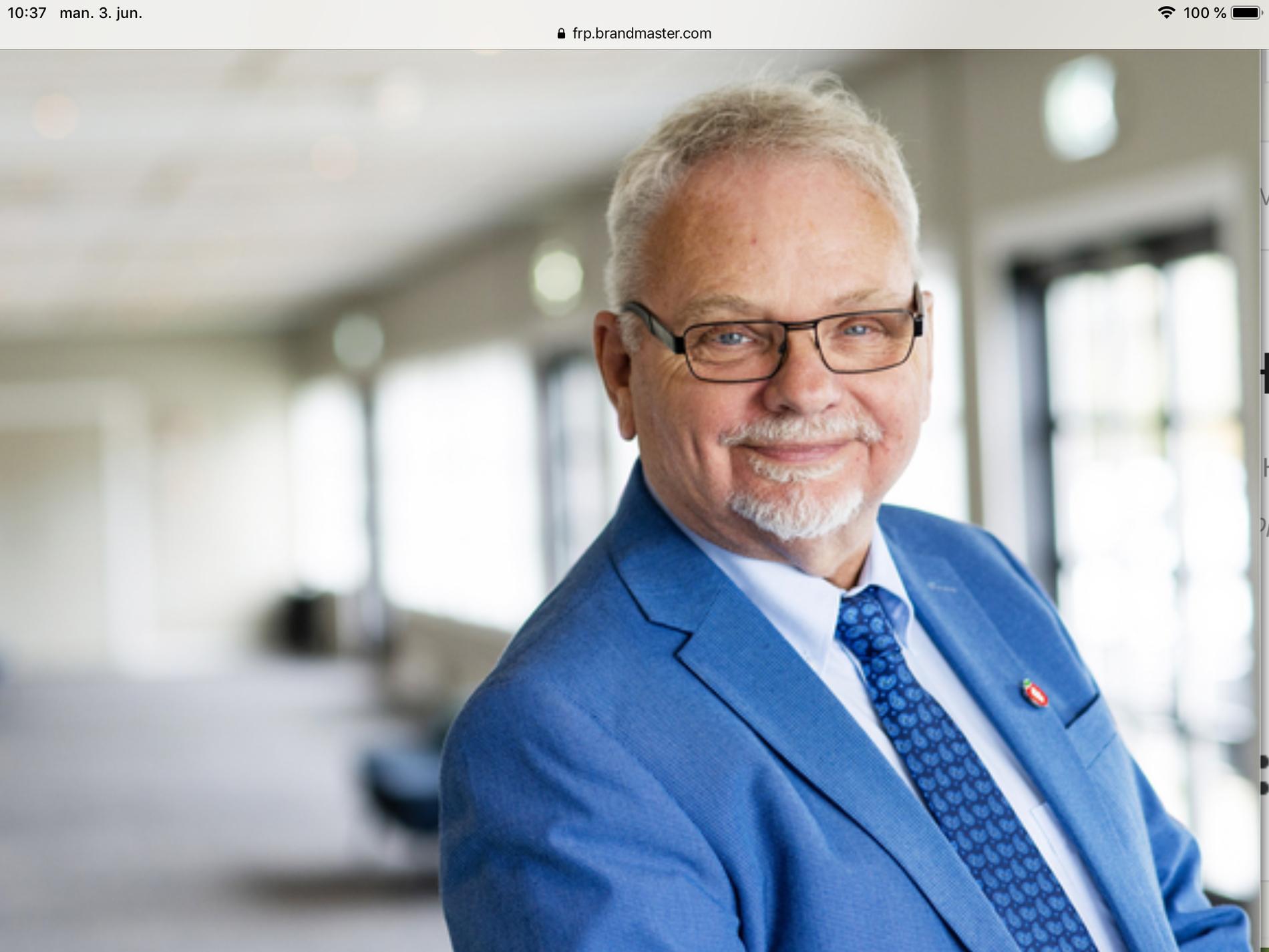 VIL UT AV REGJERING: Leder Terje Johan Helgheim i Sunnfjord Frp i Sogn og Fjordane – råder Siv Jensen til å ta Frp ut av regjering.