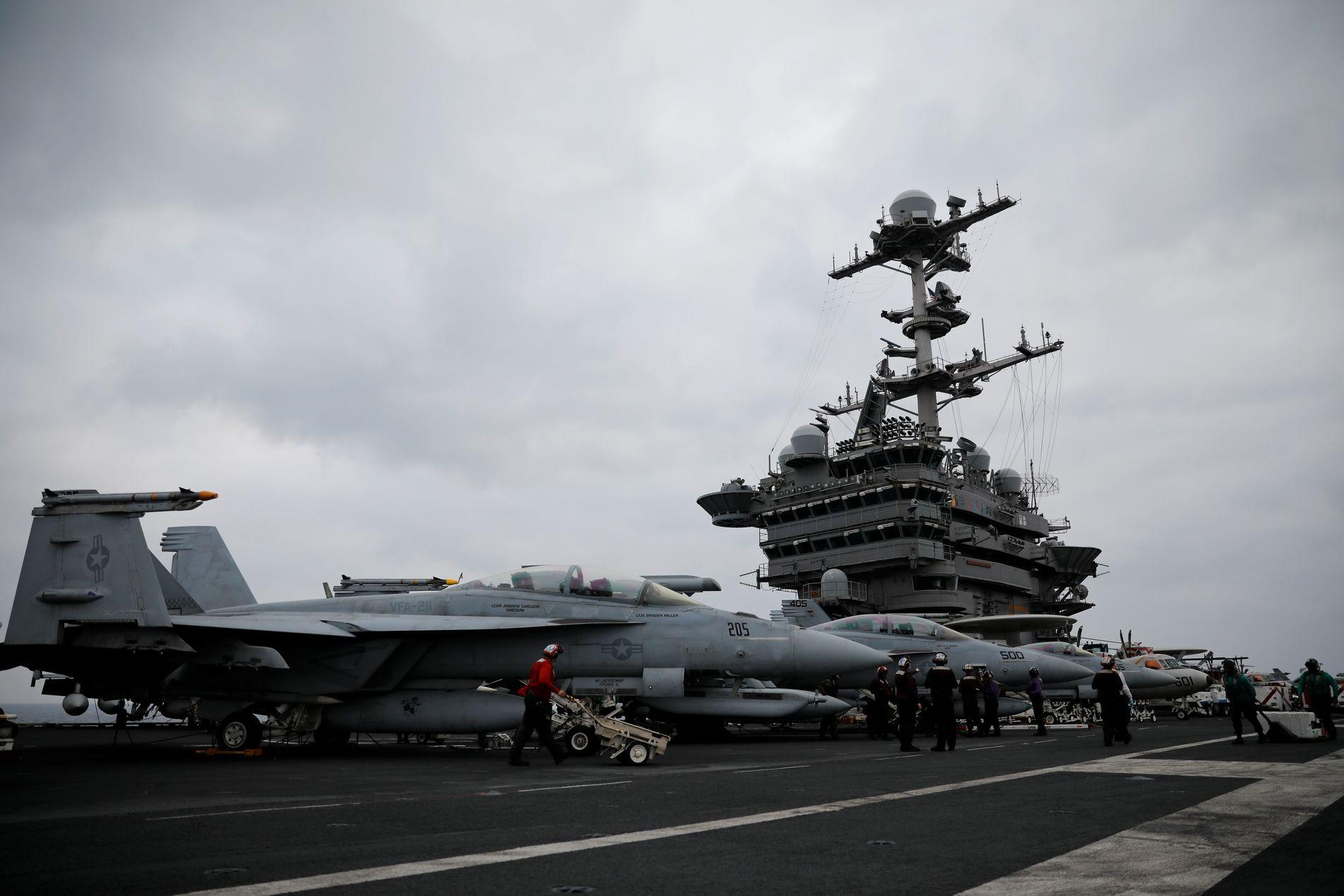 SEILER MOT NORGE: Det amerikanske hangarskipet USS Harry S Truman blir en del av øvelsen Trident Juncture i Norge senere i oktober.