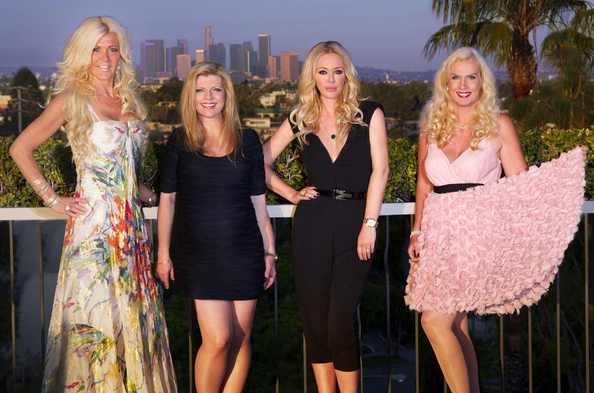 TV-FRUER: Maria Montazami, Margareta Svensson, Isabel Adrian og Gunilla Persson – her på et bilde fra 2012.
