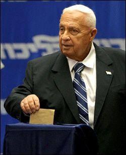 ÅPNER FOR VALG: Statsminister Ariel Sharon Foto: AFP.