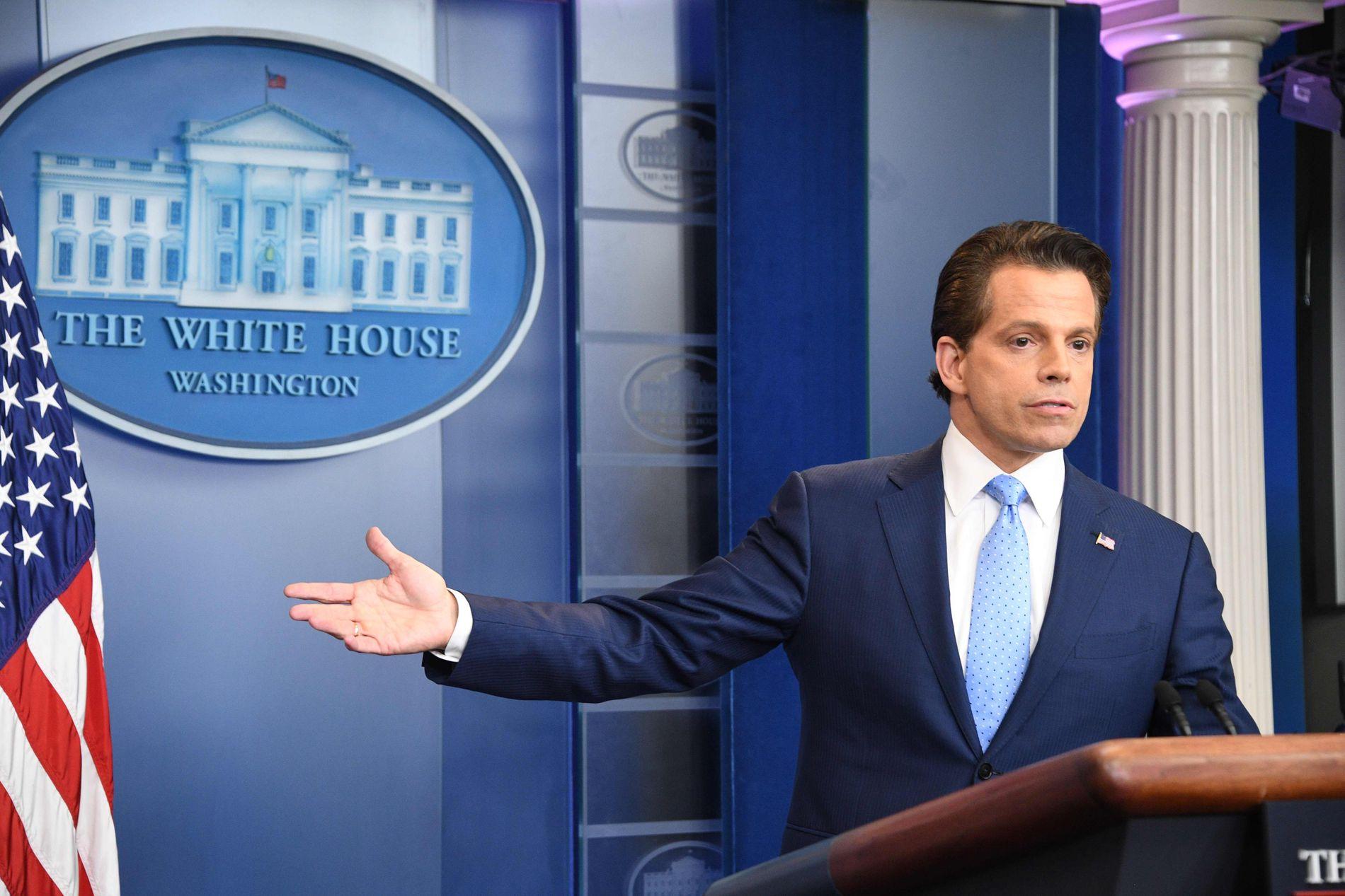 MANGE PLANER, LITE TID: Anthony Scaramucci var Trumps kommunikasjonssjef i bare 10 dager. Han hadde store planer om å forbedre Trumps relasjoner med pressen.