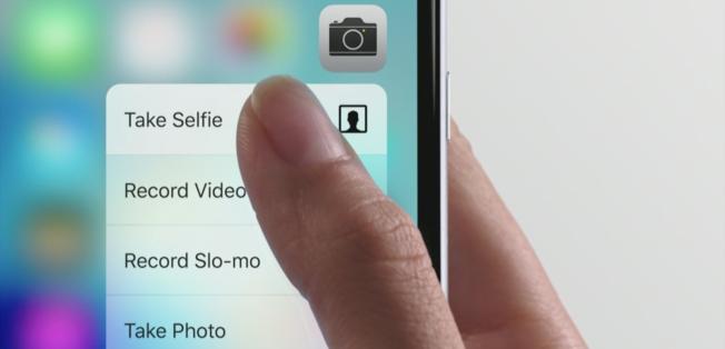 trykker du hardt på kamera-knappen får du opp en rekke forskjellige valg.