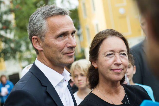 SAMMEN IGJEN: Når fagdirektør i UD Ingrid Schulerud (55) blir ambassadør i Brüssel, kan hun igjen bo fast sammen med sin ektemann, NATOs generalsekretær Jens Stoltenberg.