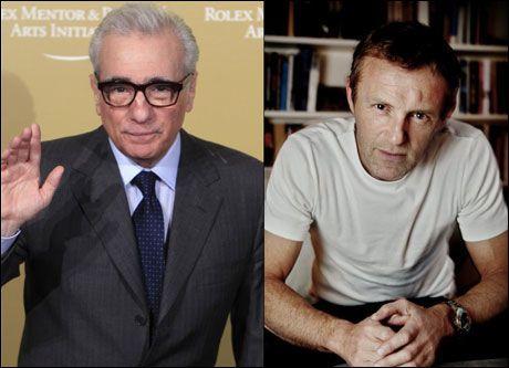 FAVORITT: - Martin Scorsese (t.v.) er min favorittregissør, sier Jo Nesbø (51). Foto: Reuters og Mattis Sandblad