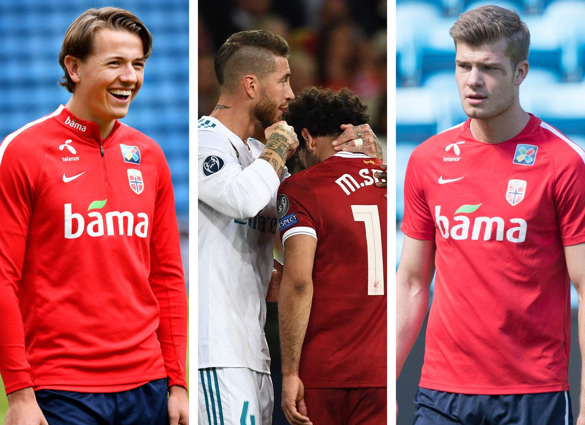 STØTTER RAMOS: Både Sander Berge (t.v.) og Alexander Sørloth (t.h.) mener norske spillere heller burde lære av Sergio Ramos istedenfor