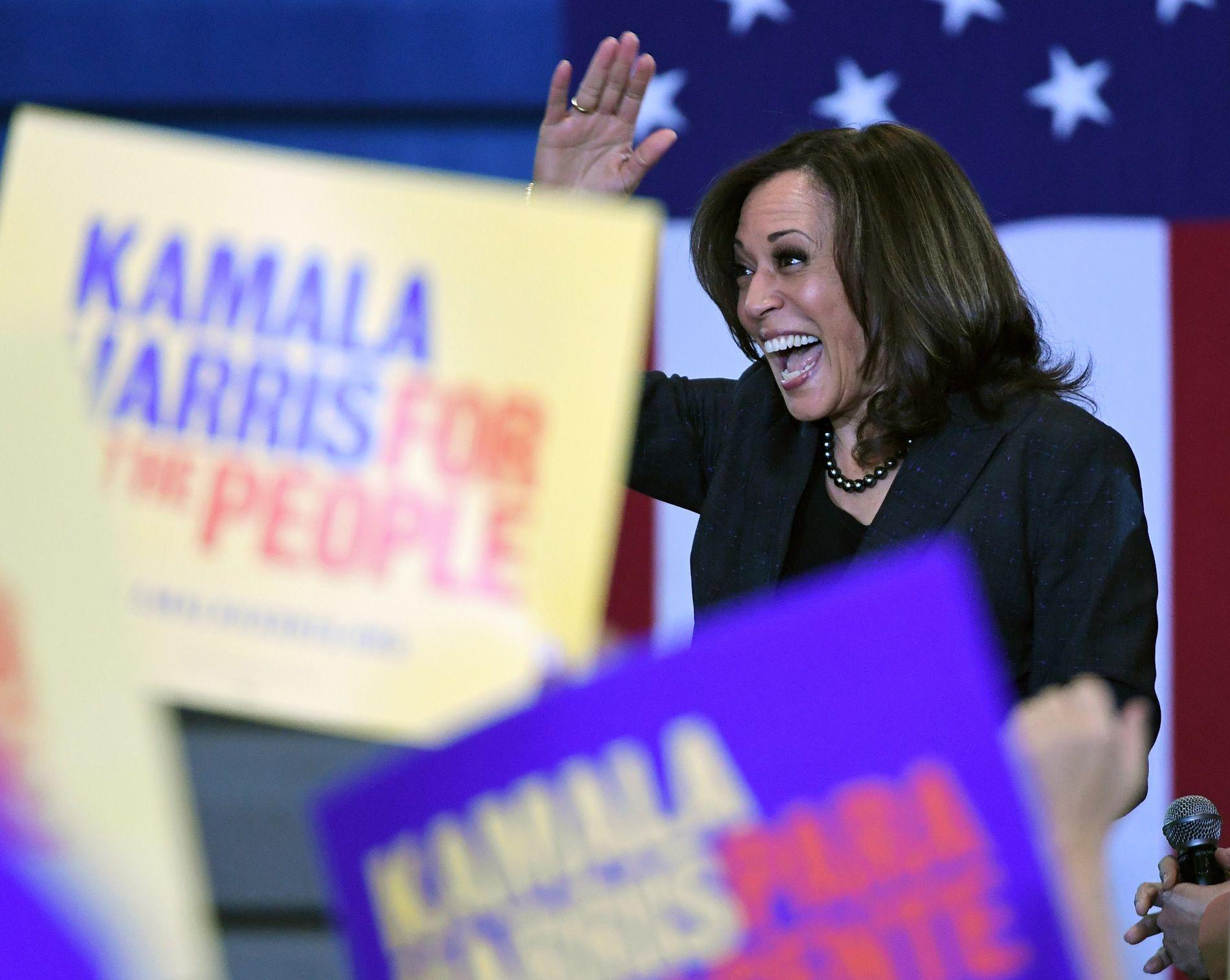 I LAS VEGAS: Kamala Harris er en av mange kandidater som i løpet av de siste ukene har vært innom vippestaten Nevada.