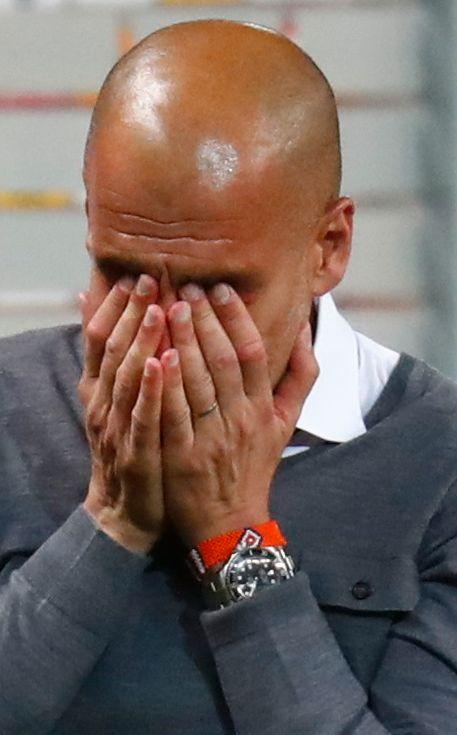 TÅREFYLT FARVEL: Pep Guardiola.