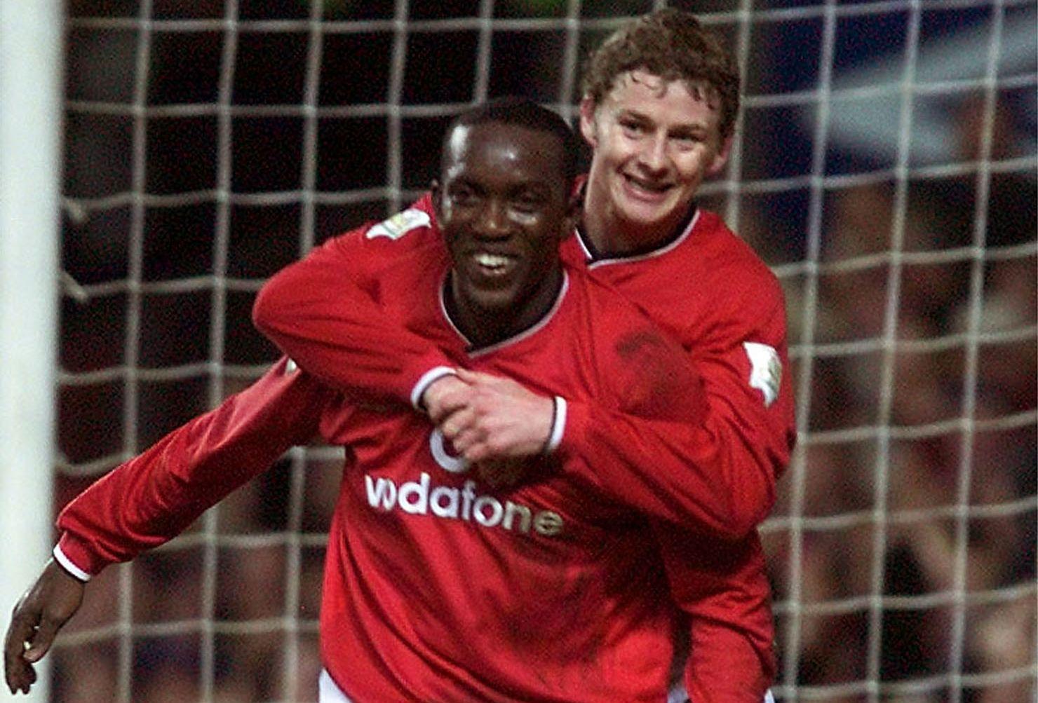 NOTORISK MÅLSCORER: Dwight Yorke, her sammen med Ole Gunnar Solskjær, scoret 48 ligamål på 92 kamper for Manchester United.