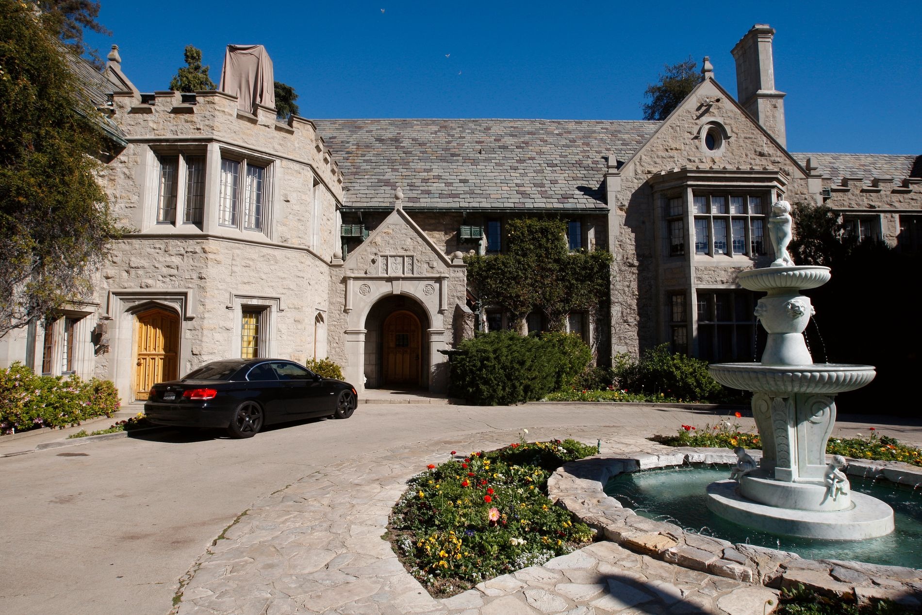 HJEMMET: Playboy Mansion i Los Angeles, California, USA.