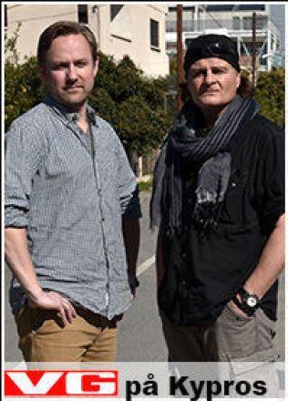 PÅ KYPROS: Rune Thomas Ege og Harald Henden. Foto: HARALD HENDEN/VG